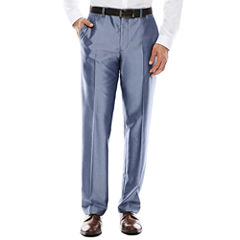JF J. Ferrar® Shimmer Blue Flat-Front Suit Pants - Slim Fit