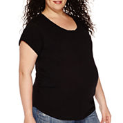 a.n.a® Maternity Short-Sleeve Boyfriend Tee -Plus