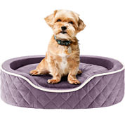 Sleep Philosophy Renny Quilted Memory Foam Orthopedic Oval Cuddler Dog Bed