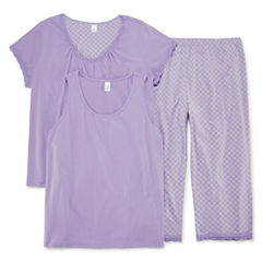 Adonna 3 piece Capri Pajama Set-Plus