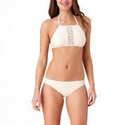 Arizona High Neck Swimsuit Top or Hipster Bottom-Juniors