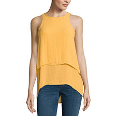 a.n.a Sleeveless Round Neck Woven Blouse