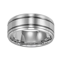 Stainless Steel Ring, Mens 9mm Band