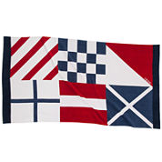 IZOD® Nautical Flags Beach Towel