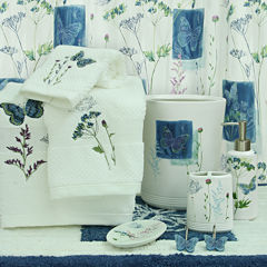 Bacova Indigo Wildflowers Bath Collection