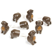 Charcoal Companion Dog Set of 4 Corn Holders
