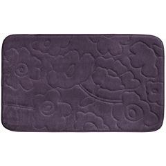 Bounce Comfort Stencil Floral Memory Foam Bath Mat