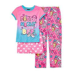 Jelli Fish Kids 3-pc. Kids Pajama Set Girls