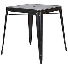 Bristow Metal Table with Umbrella hole Center Placement