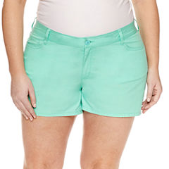 City Streets Midi Shorts-Juniors Plus