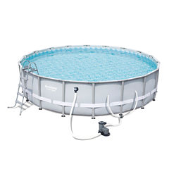 Bestway Power Steel 18 Foot x 48 Inch Pool Set