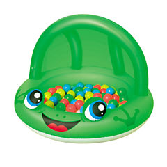 Bestway 38 Inch x 26 Inch Shaded Play Pool Frog