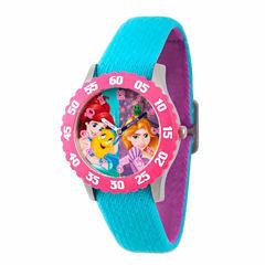 Disney Disney Princess Girls Blue Strap Watch-Wds000055