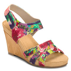 A2 by Aerosoles Plush Day Womens Wedge Sandals