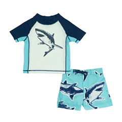 Carter's Pattern Rash Guard Set - Baby