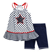 Young Land 2-pc. Legging Set-Preschool Girls