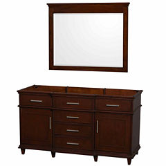 Wyndham Collection Berkeley 60 inch Single Bathroom Vanity with 44 inch Mirror