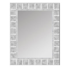 Glass Block Wall Mirror