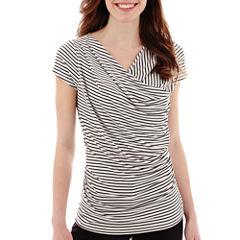 Worthington® Short-Sleeve Draped Top