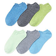 Xersion™ 6-pk. No-Show Twist Liner Socks