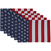 Design Imports American Flag Set of 6 Jacquard Placemats