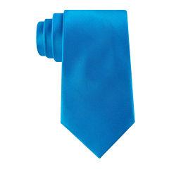 Stafford® Solid Silk Tie - Extra Long