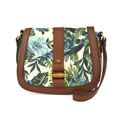 Liz Claiborne Jennifer Flap Saddle Crossbody Bag