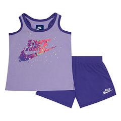 Nike 2-pc. Short Set Toddler Girls