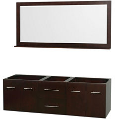 Wyndham Collection Centra 72 inch Double BathroomVanity