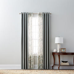 JCPenney Home Pembroke & Bismark Sheer Grommet-Top Curtain Panels
