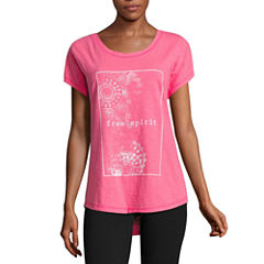 Made For Life Short Sleeve Crew Neck T-Shirt-Petites