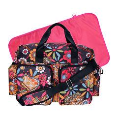 Trend Lab® Deluxe Duffle Diaper Bag-Bohemian Floral