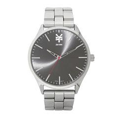 Zoo York® Mens Silver-Tone Black Bracelet Watch