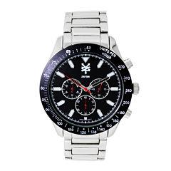 Zoo York® Mens Black Silver-Tone Bracelet Watch