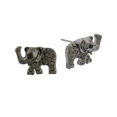 Capelli New York Elephant Post Earrings