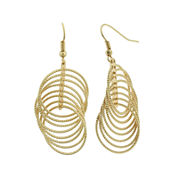 Decree® Gold-Tone Metal Ring Drop Earrings