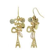 Decree® Gold-Tone Metal Cluster Eifel Towel Dangle Earrings