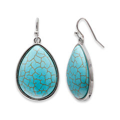 Mixit™ Aqua Teardrop Earrings