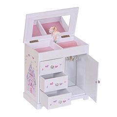 Mele & Co. Adalyn Musical Ballerina Wooden Jewelry Box