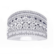 LIMITED QUANTITIES 1 1/4 CT. T.W. Diamond Sterling Silver Ring