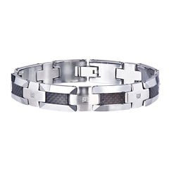 Mens 1/3 CT. T.W. Color-Enhanced Black Diamond Bracelet