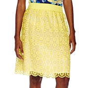 Liz Claiborne® Pull-On Lace Skirt