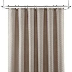 Royal Velvet® Diamond Jacquard Shower Curtain