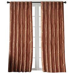 Marcel Embroidery Taffeta Rod-Pocket Curtain Panel