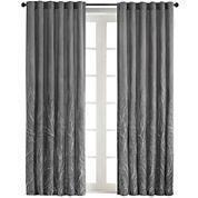Eliza Rod-Pocket Embroidered Curtain Panel