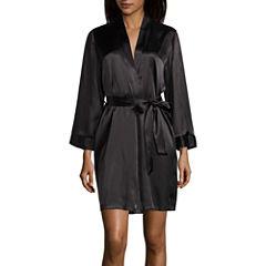 Ambrielle Long Sleeve Satin Robe