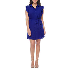 Worthington Sleeveless Shirt Dress