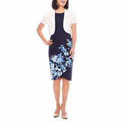Maya Brooke Short Sleeve Jacket Dress