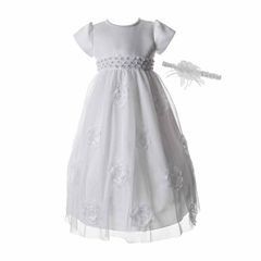 Keepsake Short Sleeve Cap Sleeve Dress Set - Baby Girls