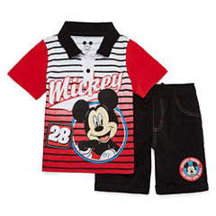 Disney by Okie Dokie 2-pc. Mickey Mouse Short Set Toddler Boys